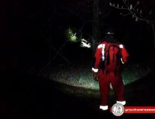 Nocne poszukiwania w okolicach Zalewu Zegrzyńskiego