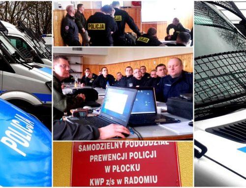 Szkolenie dla policjantów Samodzielnego Pododdziału Prewencji Policji w Płocku