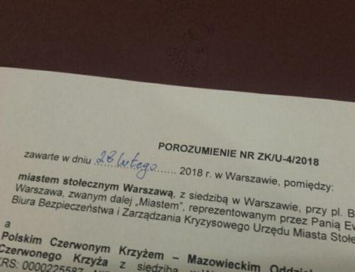 Porozumienie o zasadach współpracy z Miastem st. Warszawa
